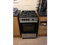 £90 Gas cooker/black silver/with gas pipe and free delivery within 5 miles