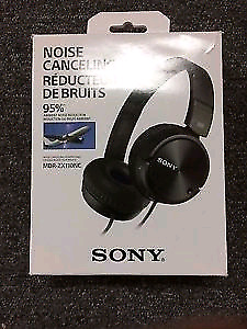 Sony Over-Ear Noise Cancelling Headphones (MDRZX110NC) - Black
