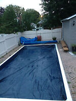 New Liner Lock Rectangle vinyl Pool Cover for sale 100$