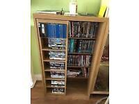 Next opus oak bookcase dvd unit floating shelves