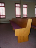 16' Oak Church Pew