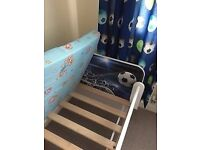 Boys toddler bed with mattress