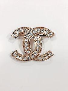 e396b30b0137 Chanel Gold Brooch · NEW IN BOX CHANEL CRYSTAL CC LOGO BROOCH CLASSIC  SILVER PIN