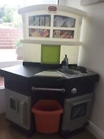 Little tikes side by side kitchen vgc