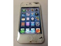 Iphone 4 cracked exterior otherwise works perfect bargain