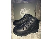 TIMBERLAND EUROHIKER BLACK INFANT BOYS SIZE 5 BOOTS £20