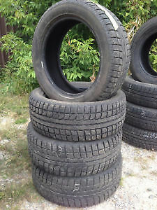 SET OF 4 WINTER TIRES 225 55 R 19 WITH 80% TREAD