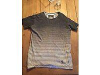 Religion Men's Stripey T-Shirt, Size Medium, Top Condition