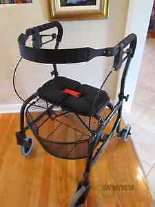 **NEW***Nexus 4-Wheel Seated Walker with Removable Basket