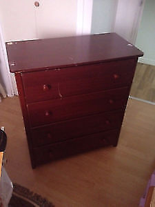 Cherry wood four drawers dresser. AVAILABLE