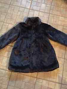 Girls size 10-12 faux fur coat from Please Mum