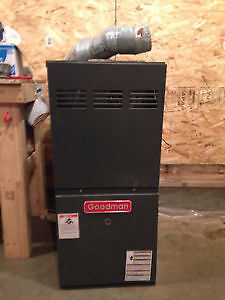 Natural gas or propane 2004 mid/high Efficiency furnace- Goodman