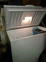 Three And A Half Foot Wide Deep Freezer   6 years old