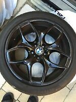 """BMW Black Rims [ Wheels AND Tires included ] 20"""" inch"""