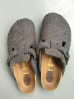 Birkenstock Women's BOSTON Gray Birko Felt Clogs Size 5