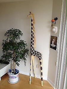 Stuffed giraffe - home decor