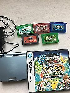 GameBoy Sp AGS101 Pokémon Emerald,Ruby,Sapphire,Leaf Green&2more