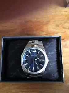BULOVA Mens Stainless steal with blue face-$200 OBO