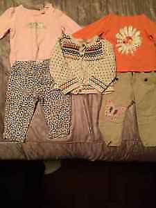 (20) Pieces Adorable Little Girl Clothes Sz 12-18 Months