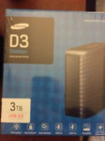 100 percent sealed samsung 3tb external usb 3.0 or 2.0 hook up