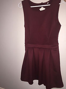 Burgandy dress with open back!