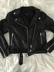 BRAND NEW XXS MACKAGE LAMBSKIN LEATHER JACKET 50% OFF