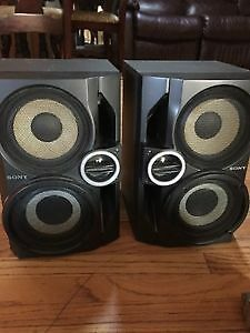 SONY book shelf speakers Like new