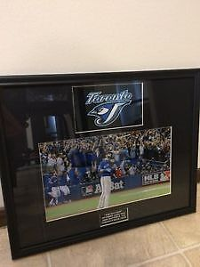 *THE BAT FLIP* Jose Bautista 11x14 framed photo Toronto Blue Jay