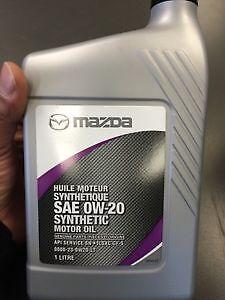 **Genuine Mazda 0W-20 Synthetic oil**