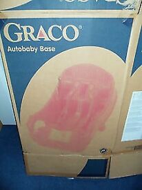 Graco autobaby base for baby car seat fits mothercare first seat