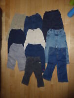 Lot 19 vêtements capris chandails longs pantalon jean 2 ans gars