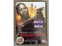 THE EQUALIZER DVD.Denzil Washington.with unused UV Code