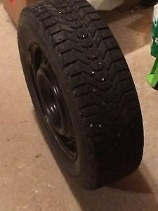 Firestone Winterforce Studded Tires and Rims (4) 215/70 R16