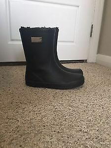 Fur lined rain boots for sale