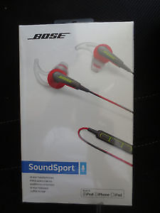 Bose Soundsport In-Ear Headphones-NEW IN BOX (RED) 80
