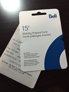 TWO PREPAID $15 MOBILITY CARDS Windsor Region Ontario image 1