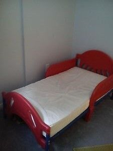 Transition bed with mattress