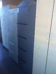 Used Storage Cabinet with Filing and Wardrobe Storage