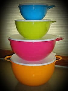 MEGA BOL GRAND-MÈRE ORANGE TUPPERWARE THATSA MEGA BOWL
