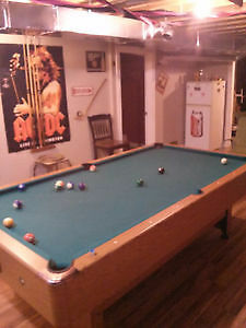 Pool table with all accessories..