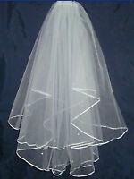 New White wedding veil /Nouveau voile de marriage blanche