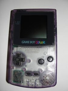 *****NINTENDO GAME BOY COLOR VIOLET CLAIR / ATOMIC PURPLE NINTENDO GAMEBOY COLOUR + JEUX/GAMES A VENDRE/FOR SALE!*****