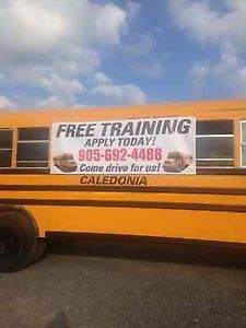 SCHOOL BUS DRIVERS WANTED, FREE TRAINING PROVIDED