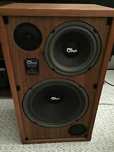 Extremely Rare Vintage OHM H Speakers