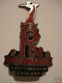 VINTAGE RALEIGH CYCLES, HERONS HEAD BADGE or An NGN FORK KEY CUT TO FIT YOUR LOCK Nottingham £10