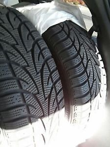 Four 225/45/17 directional winter tires