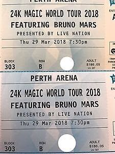 Bruno Mars 24k Magic Tour - Perth Madeley Wanneroo Area Preview
