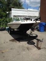 1980 peterborough boat and 85 HP  Mercury