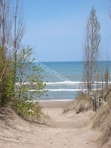 """Grand Bend Cottage Rentals """"Beach O' Pines"""" Steps to the beach!"""