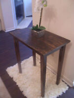 Rustic Expresso Brown Tall End/Accent Table DELIVERY ONLY